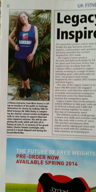 Nikki is raising money for Blind Veterans UK in memory of her Grandfather.  #BlindVeteransUK