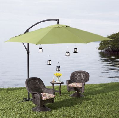 Offset Patio Umbrella U0026 Lights From Country Door. Dress Up Your Deck Or  Patio With