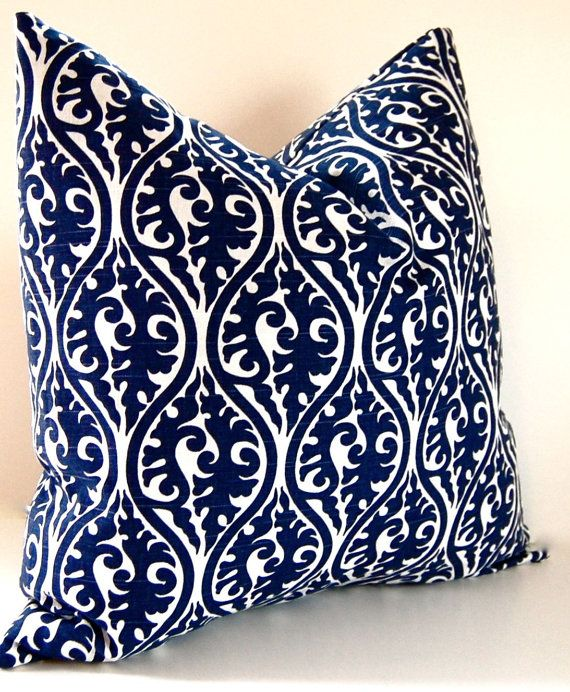 Decorative Pillow One Premier Prints Navy Blue By