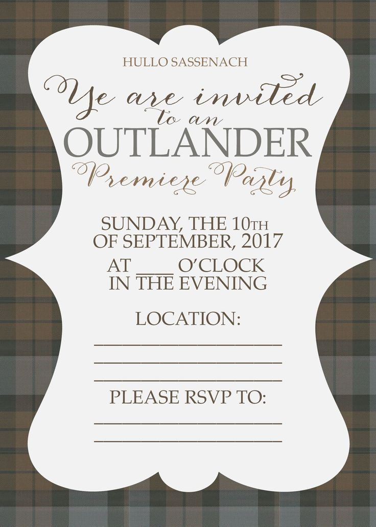 Looking for free printable Outlander Premiere Party Decorations and Invitations? These free downloads will help you throw an epic Outlander premiere party that would make Claire and Jamie proud. Party on, Sassenachs! Free Outlander Party Printables Where are my Outlander fans at? Who else is super excited about the season premiere coming soon?? The 3rd …