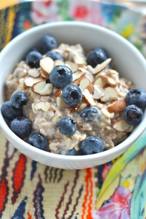 Blueberry Overnight Oats - I had Blueberry and Fresh apricot Overnight Oats this morning...yummy!