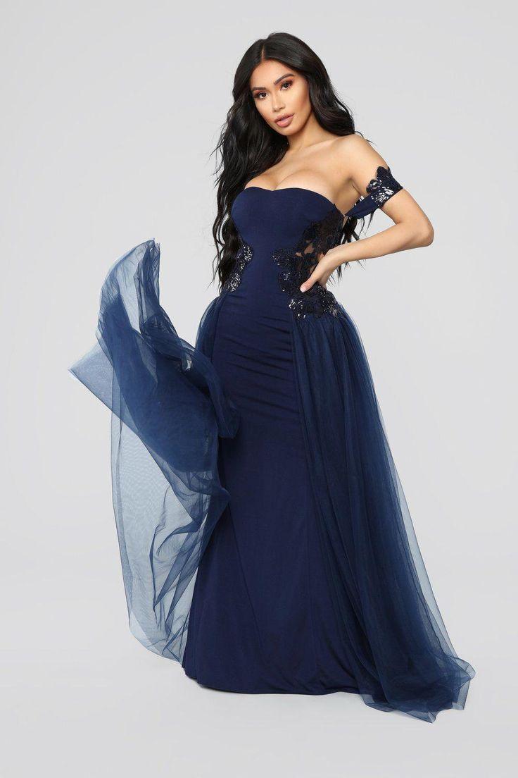 Extravaganza Tulle Dress Navy Womensfashionforwork