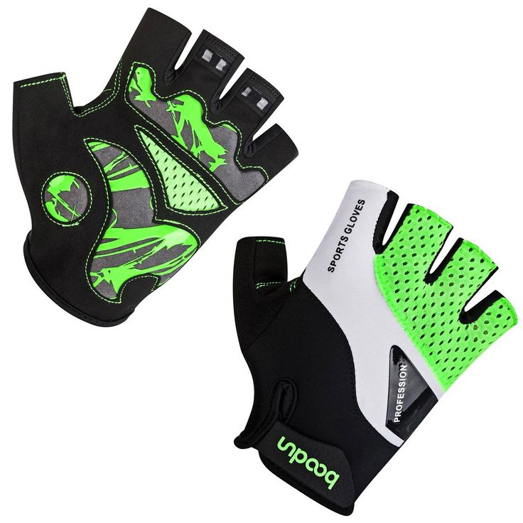 BOODUN Cycling Gloves for Men Women Half Finger Bicycle Gloves Breathable Anti-slip Gloves Green M. WRIST - The sticky Velcro Buckle is applied to gloves. Never worry about any hand type. It is so easy adjust the tension according to your personal needs. [It is most flexible to use your half Finger gloves in cycling, rock climbing, BMX, motorcycle, gym, driving, jogging, workout, hiking and other activities. BACK - Biking Gloves to be made of Lycra spandex and specially designed excellent...