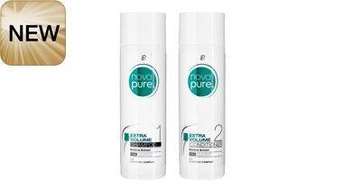 LR Nova pure - Extra Volume Set http://bit.ly/180L4SS :Inhalt des Sets: - Shampoo 200 ml - Spülung 200 ml