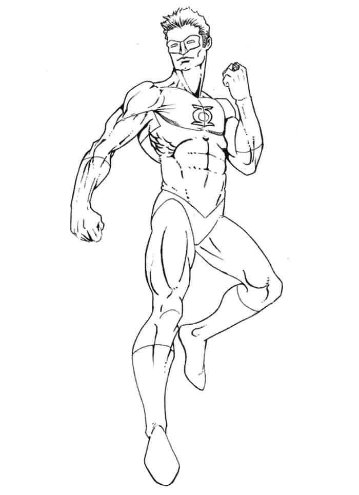 Easy Green Lantern Coloring Pages To Print In 2020 Coloring Pages To Print Coloring Pages Green Lantern Comics
