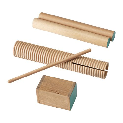 IKEA - LATTJO, Percussion, set of 3, Playing rhythm instruments helps your child develop their sense of rhythm and improves hand-eye coordination.