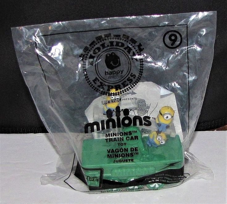 McDonalds Minions #9 2017 Train Car Holiday Express Happy Meal Toy NEW #McDonalds