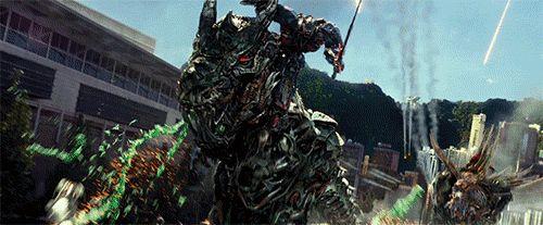 "Transformers: Age of Extinction - Optimus Prime (autobot) and Grimlock ""T-Rex"" (dinobot)"