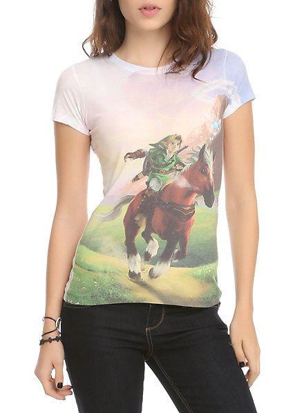 Nintendo The Legend Of Zelda: Ocarina Of Time 3D Girls T-Shirt | Hot Topic