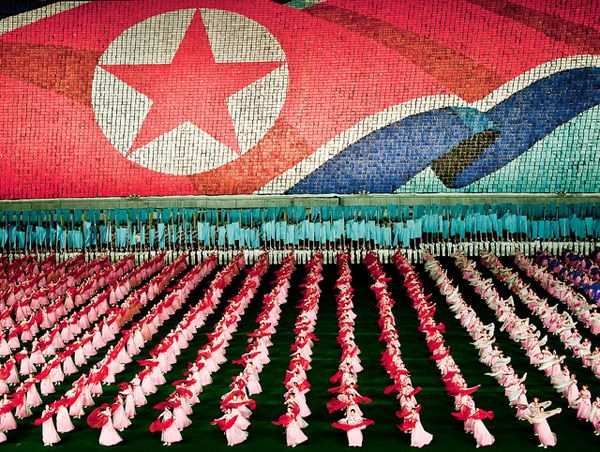 The North Korean Mass Games Performed by 100,000 People people North Korea multiples games