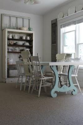 blue table legs