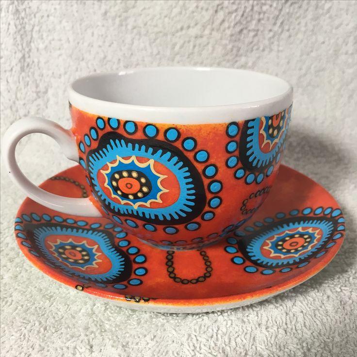 "Filiżanka ""Aranda Orange"" - cup ""Aranda Orange"""