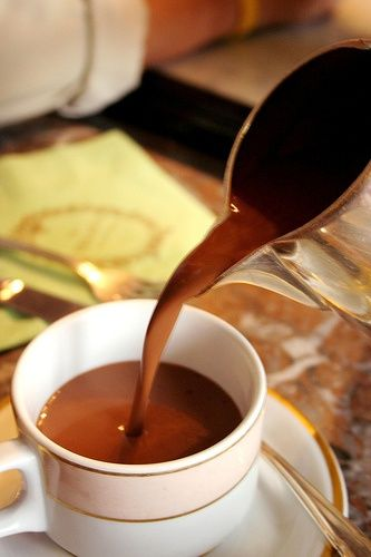 Ladurees Chocolat Chaud . . . Hot Chocolate sinfully silky