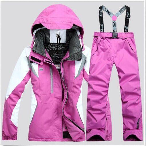 HOT NEW Womens Winter Sport Ski Suit Coats Pants Waterproof Snowboard Clothing