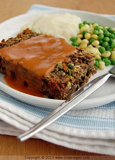 Copycat Amy's Veggie Loaf Dinner, I put this recipe into Weight Watchers but replaced the leak with onion, and used regular mushrooms, if you have 6 servings it equals 3 Weight Watchers points plus.  Also use Pam instead of greasing the pan.  The gravy is not included in the points.