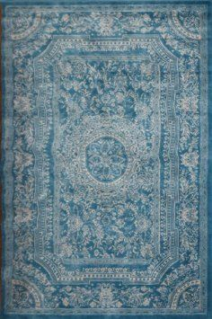 Amazon.com: Light Blue Traditional French Floral Wool Persian Area Rugs 7'10 x 10'5: Home & Kitchen