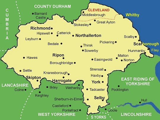North Yorkshire part of the largest county in England