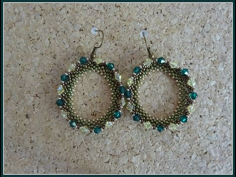 Tutorial Pendientes aretes de rocallas y swarovski - YouTube