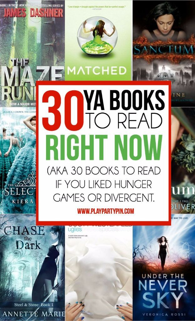30 great young adult books to read if you liked Divergent or Hunger Games! Some of the best books to read this year. Tons of great books like Divergent!