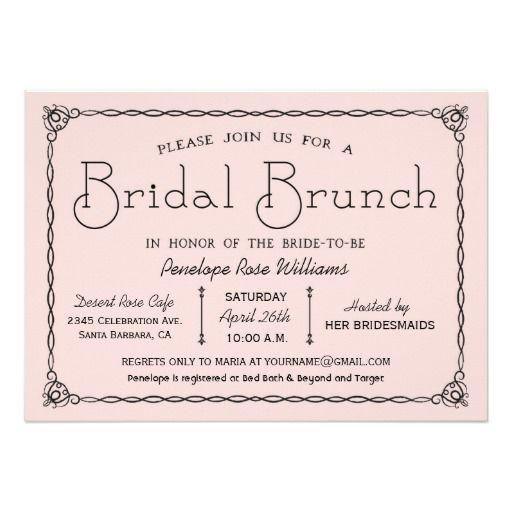 Vintage Bridal Brunch Bridal Shower Invitations