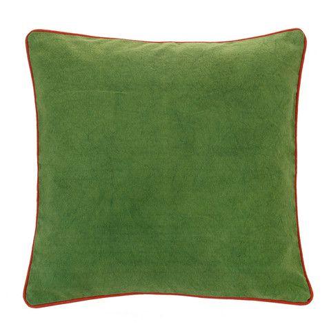 Verandah Moss/Papaya Cushion - Linen & Moore