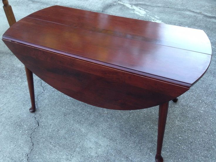 vintage drop leaf solid cherry dining table queen ann willet