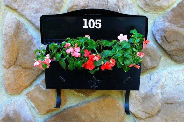 Kate's Place: Repurpose Your Old Mailbox... Before And After