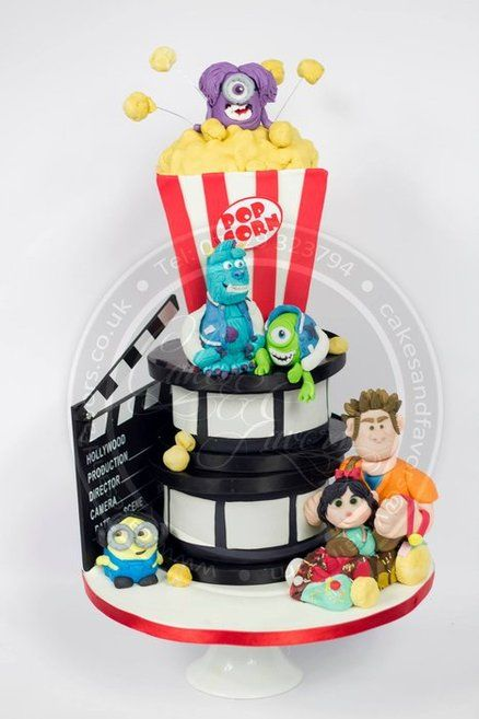 Movie Night Cake Cake by Cakes and Favors