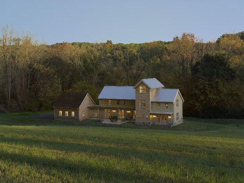 Clean Roofline Tiered Facade Attached Garage With Breezeway Modern Farmhouse ExteriorModern