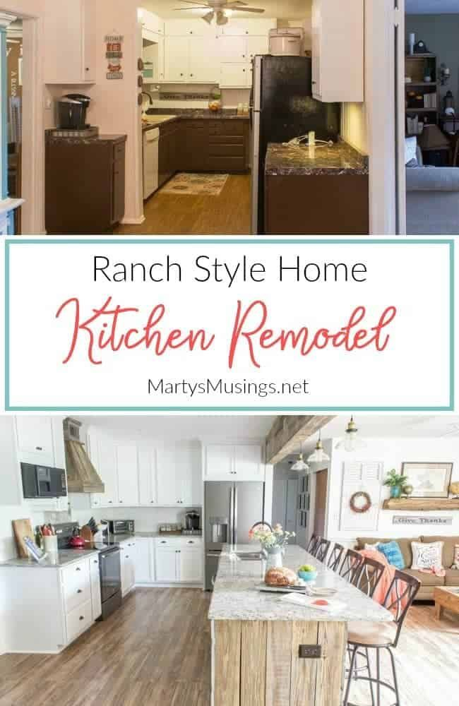 How To Remodel A Ranch Style Kitchen Before And After Kitchen Remodel Small Kitchen Remodel Ranch House Remodel