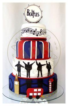 The Beatles Fondant Cake