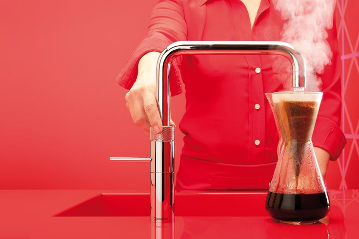 The boiling water tap, now four decades old, comes in a new, energy-efficient iteration.