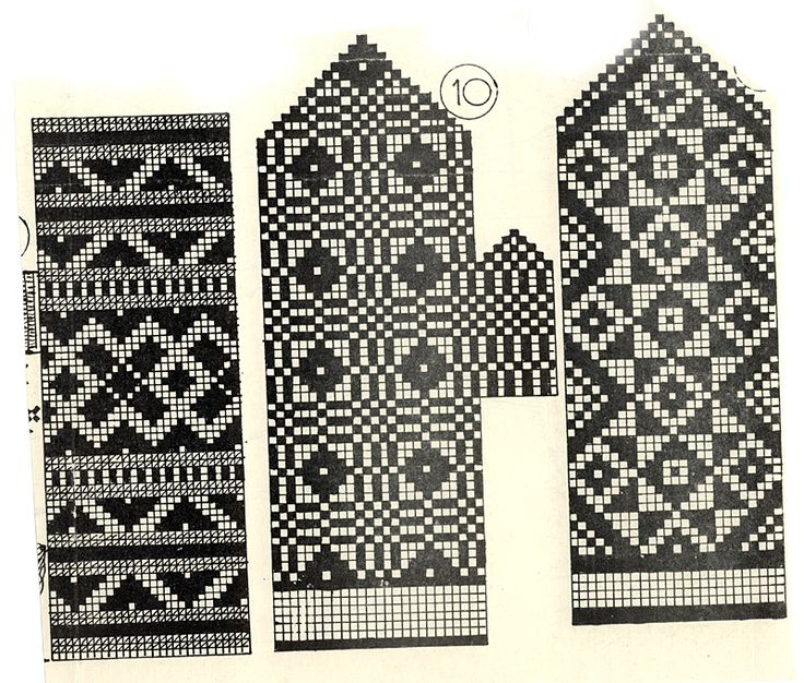 The fair isle patter is nice of course, but I'm really intrigued by this way of setting the thumb in a mitten.