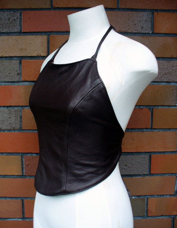 Inspiration: Leather Halter Top -MAKE cute