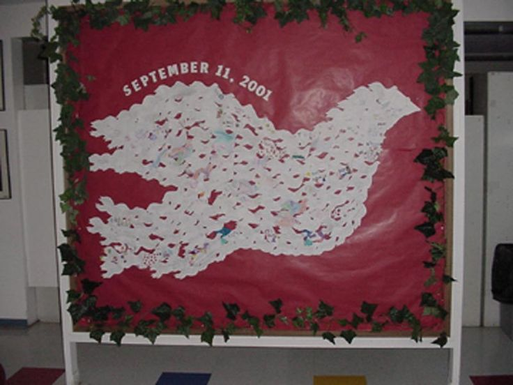 made from smaller doves with messages of peace on each one after sept 11th. Classroom Displays and Bulletin Boards Homepage