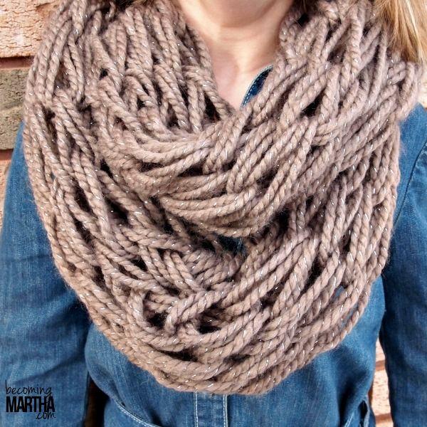 Arm Knitting an Infinity Scarf - Becoming Martha