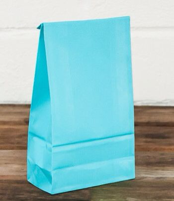 Blue lolly bag  www.qualitytimepartysupplies.com.au