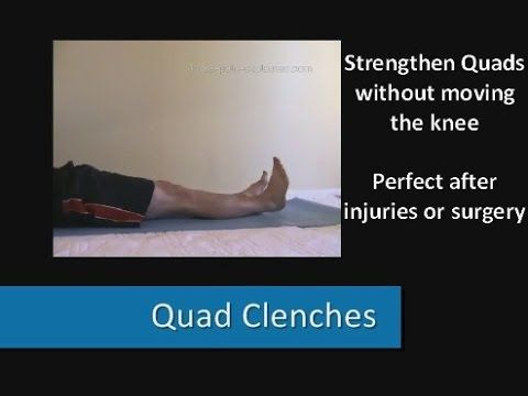Knee Strengthening Exercises: Beat knee pain fast. This is a great list of exercises!!
