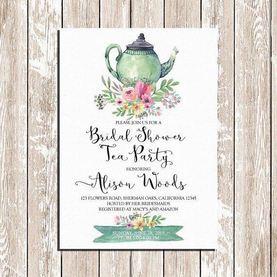 Best 25 Bridal tea invitations ideas – Tea Party Wedding Shower Invitations