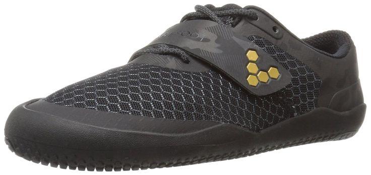 Vivobarefoot Women's Motus Fitness Cross Training Court Running-Shoes, Black/Gold, 40 D EU (9 US)