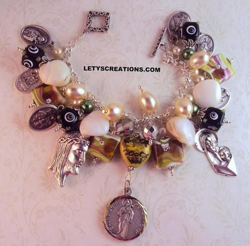Catholic St. Jude Relic, Saints, Religious Medals Handcrafted Charm Bracelet