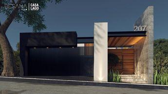 Fachada Norte: Casas de estilo moderno por Besana Studio