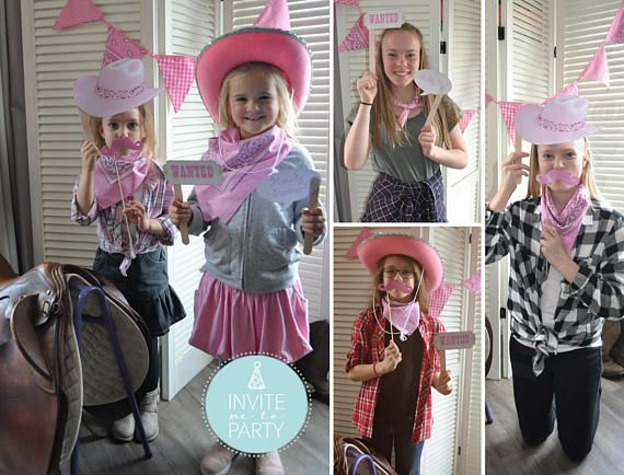 Cowgirl Photo Booth Props Instant Download   Western Party