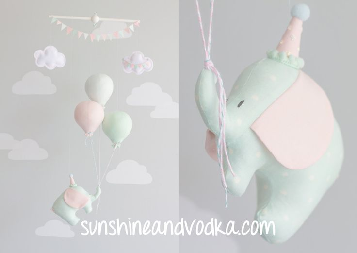 Baby Mobile Elephant and Balloon Mobile Travel Theme