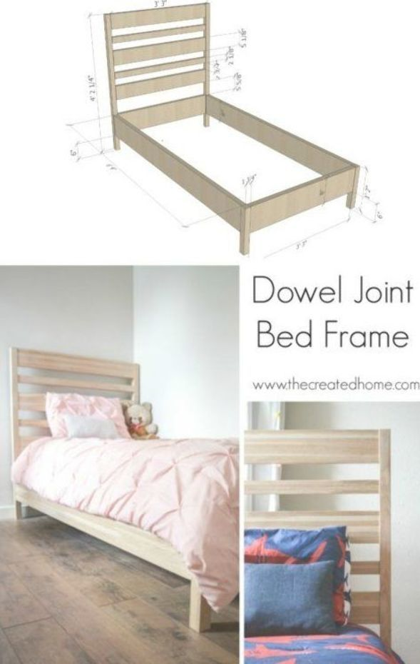 Dowel Joint Bed Frame The Created Home Diy Furniture Plans