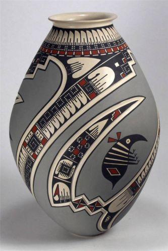 Mata Ortiz Pottery by Lazaro Ozuna Silveira Sgraffito Olla   eBay