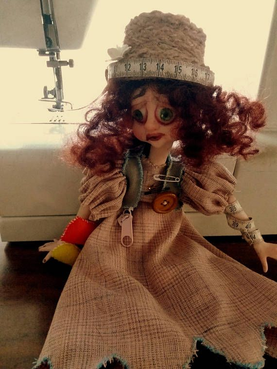 Boubou/Dressmaker/doll/artdoll/ooakdoll/handmadedoll/claydoll/