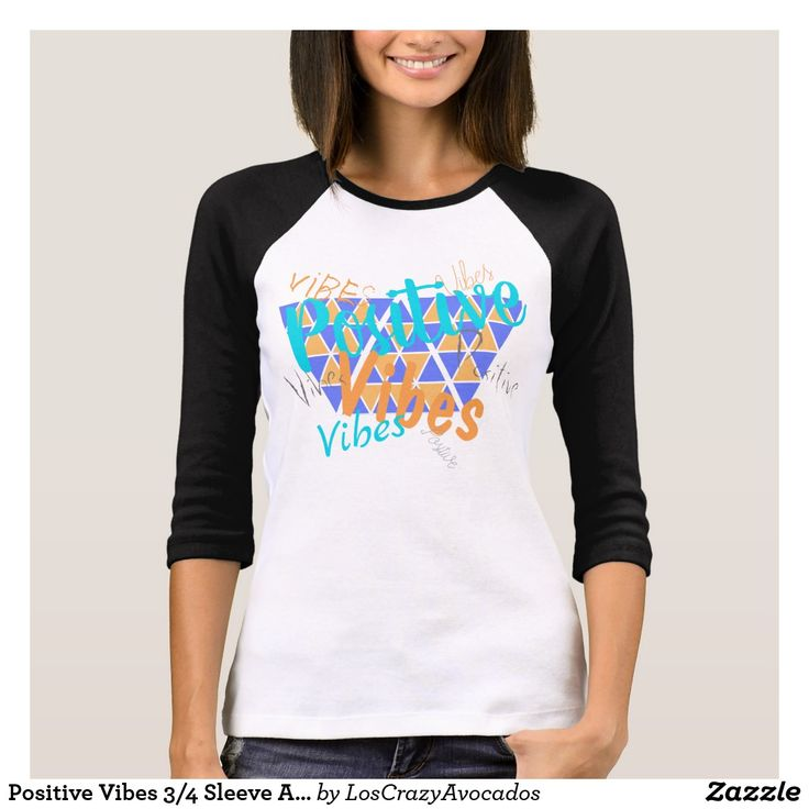 Positive Vibes 3/4 Sleeve American Top Shirt