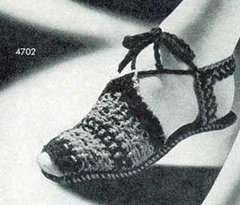Woven Sandals Pattern | Crochet Patterns  FRee vintage patterns