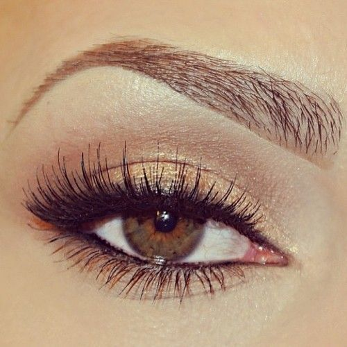makeupbag:http://makeupbag.tumblr.com/Beautiful, Everyday Looks, Hair Makeup, Girls Hairstyles, Lashes, Eyebrows, Nature Looks, Gold Eyeshadows, Nature Eye Makeup